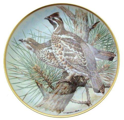 Franklin Porcelain c1979 Haviland Limoges Gamebirds of The World Basil Ede Hazel Grouse Plate -