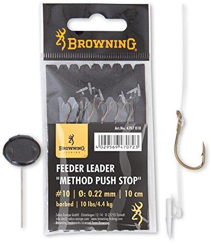 Browning Leader Feeder Method Push Stop con Gancho - Pack de 6 - por 6, Bronce, 18, N°16, 10, 6: Amazon.es: Deportes y aire libre