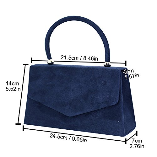 Tote Lady Party Leather Color Handle Clutch Hot Various Handbag Purse Bag Wiwsi Suede xzRYwTZ
