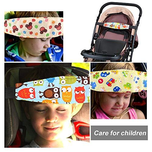 Kesote 3 Soporte Seguridad para Cabeza de Niños Cinturón Ajustable para Silla de Coche Correa de Seguridad para el Asiento del Coche: Amazon.es: Bebé