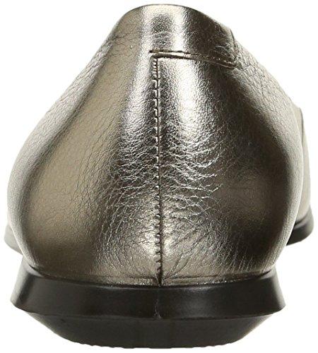 Warm Metallic para Grey 2 Touch Cerrada con 0 Ballerina Bailarinas Punta Ecco Mujer Svwna7q4q