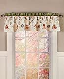 Owl Theme Window Treatment Valance Woodland Cabin Lodge Home Decor Polyester