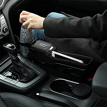 2cf3f075b11a KMMOTORS 'S' Line Coin Side Pocket, Console Side Pocket, Car Organizer  (General(with cupholder), Black)