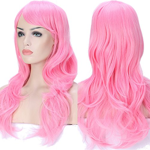 S-noilite Anime Cosplay Wigs Curly Wave Straight Synthetic Halloween Costume Wig (23