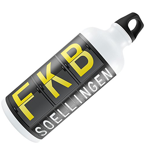 Water Bottle Fkb Airport Code For Soellingen 20Oz   600Ml