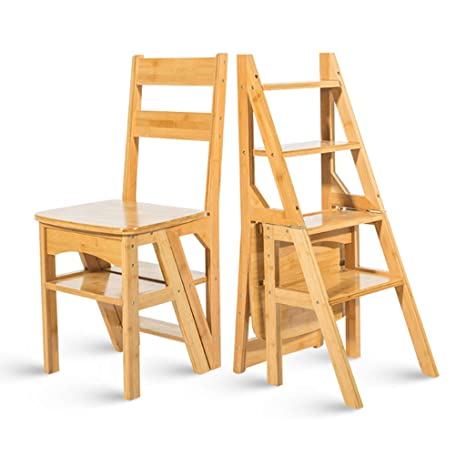 Escalera de bambú Sillas Sillas Escalera Plegable Fip ...