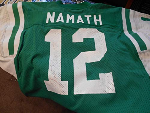 Joe Namath Autographed Signed Autograph Jets Jersey With JSA Authentic Certificate