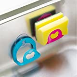 HOME CUBE® 2 Pc New Sucker Dishcloths Storage Kitchen Utensils Gadget Dish Cloth Sponge Suction Cup Wall Box Holder Mount Sink Tub = Set of 2 Pc