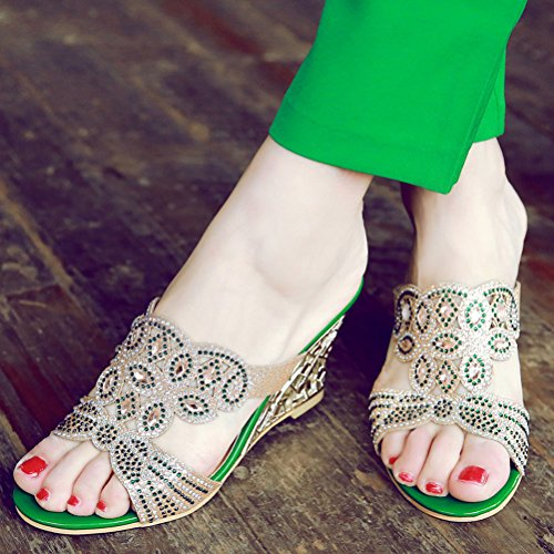 Mules Mules Femme Green HiTime Green Femme HiTime HiTime z4qnn6WPwp