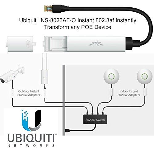 Ubiquiti Instant Passive PoE-to-802.3af Adapter White/Black INS-8023AF-O