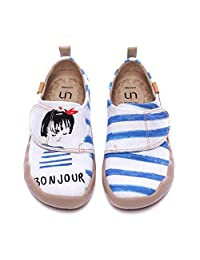 UIN Kids' Fashion Sneaker Colorful Painted Art Funny Walking Casual Loafers Wave Up
