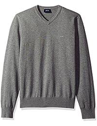 Men's Regular Fit V-Neck Cotton Sweater