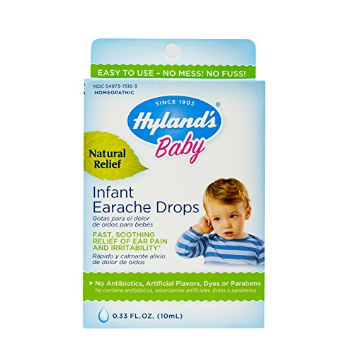 Allergy Relief for Baby by Hyland's, Infant Earache Drops, Natural Homeopathic Earache Pain Relief from Allergy and Cold & Flu, 0.33 Ounce (Best Earache Medicine Over The Counter)