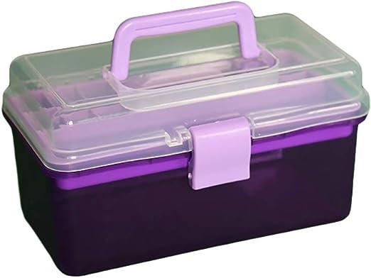 ZSHLZG Caja de Herramientas de plástico Color Doble Caja de ...