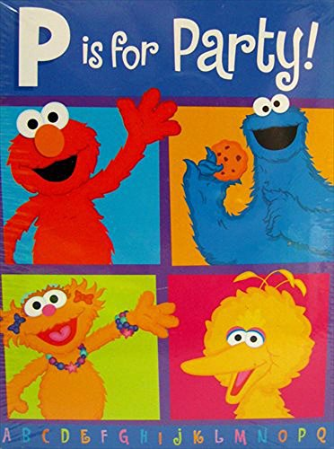 Sesame Street 'P is for Party' Invitations and Thank You Notes w/ Env. (8ct -