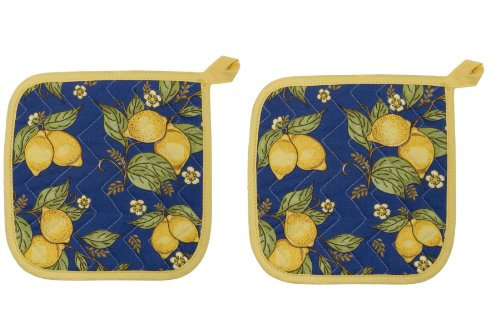 Now Designs Basic Potholders, Provencal Yellow, Set of 2