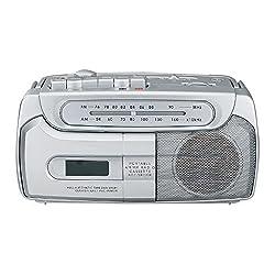 Sylvania Portable Tape Cassette Player/Recorder With AM/FM Radio Tuner Mega Bass Reflex Sound System