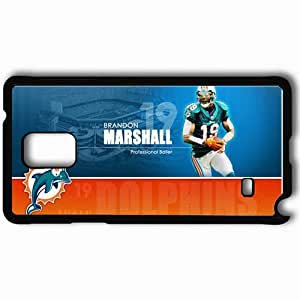 Personalized Samsung Note 4 Cell phone Case/Cover Skin 575 miami dolphins Black
