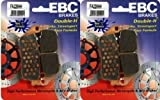 EBC Sintered Double H Front Brake Pads (2 Sets) for Both Calipers 2011-2013 Triumph Tiger 800 XC ABS FA226HH