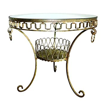 Attractive Dr. Livingstone I Presume Italian Gold Antique Reproduction Side Table Intended For Dr Livingstone I Presume Furniture
