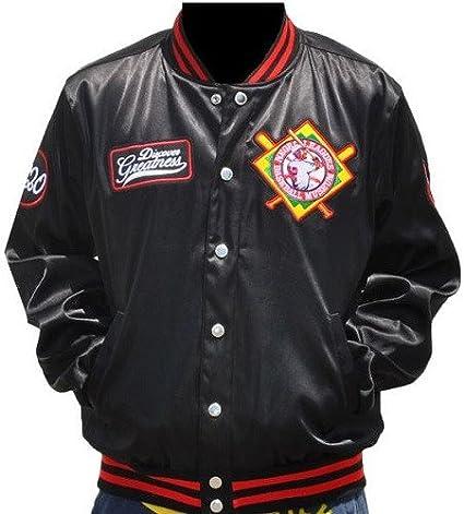 Big Boy Gear Negro League Team Logo Collage Screenprint on Satin Snap Baseball Jacket