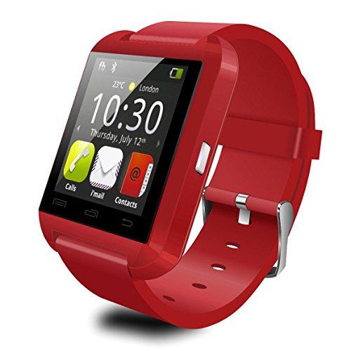 Bluetooth reloj inteligente Deportes podómetro altitud Vigilancia del sueño Reloj de regalo Pantalla táctil y cámara...