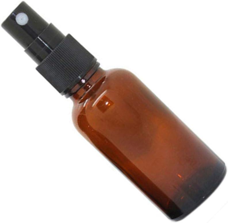 Zerama 5-100ML botellas de cristal vacías Aceite esencial de aerosol de la niebla Perfume de contenedores caso del recorrido atomizador recargable del envase cosmético