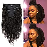 KeLang Afro Kinkys Curly Clip in Hair Extensions for African American Black Women Kinky Curly Clip ins 3C 4A Double Weft...