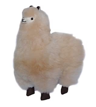 Amazon Com Incatrade 12 Inch Beige Alpaca Fur Toy Handmade On
