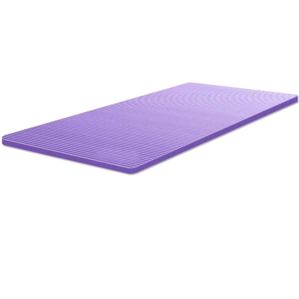 ASJHK ヨガマット肥厚拡大ヨガマットフィットネススポーツ女性の長い滑り止めスポーツヨガマットホーム ヨガマット (色 : Gray, サイズ さいず : 15mm) B07P6HXZ8G 15mm Purple Purple 15mm