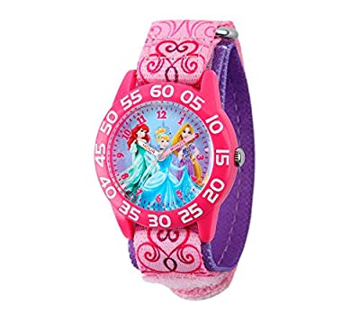 Disney Princess Girls' Pink Plastic Time Teacher Watch from Disney
