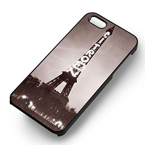 Eiffel Tower Vintage Photo pour Coque Iphone 5 or Coque Iphone 5S or Coque Iphone 5SE Case (Noir Boîtier en plastique dur) J7G3ZD