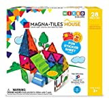 Magna-Tiles 18332 28Piece House Set, The Original, Award-Winning Magnetic Building Creativity & Educational, Stem Approved, Solid & Clear Colors (Pack of 28)