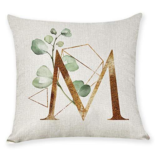 (AOJIAN Home Decor Cushion Cover, Alphabet Flower Decorative Throw Pillow Covers Protectors Bolster Case Pillowslip)