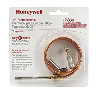 Honeywell CQ100A1005 36-Inch Replacement Thermocouple for Gas Furnaces, Boilers and Water Heaters