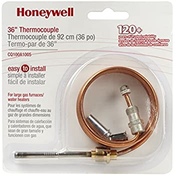 Honeywell CQ100A1005/U CQ100A1005 Replacement Thermocouple for Gas Furnaces, Boilers and Water Heaters, 36-Inch