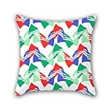 NICEPLW throw cushion covers 20 x 20 inches / 50 by 50 cm(double sides) nice choice for chair,office,birthday,wife,teens girls,adults geometry