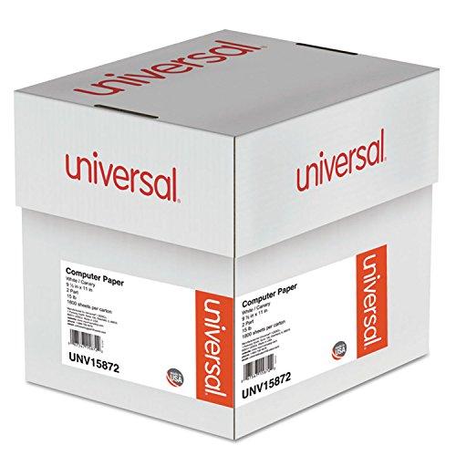 - Universal 15872 Multicolor Computer Paper, 2-Part Carbonless, 15lb, 9-1/2 x 11, 1800 Sheets
