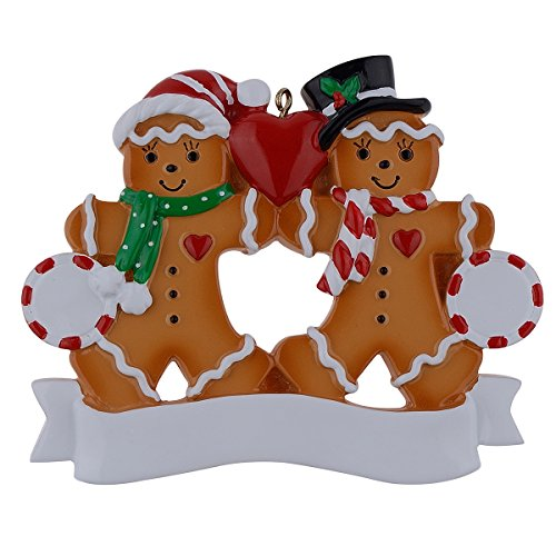 WorldWide Personalized Ornament Gingerbread Family -