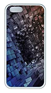iPhone 5s Cases & Covers -3D Space TPU Custom Soft Case Cover Protector for iPhone 5s - White