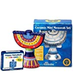 Rite Lite MSCR-11 Ceramic Mini Menorah - Includes Candles - Pack Of 2