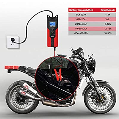 GOOLOO 6V/12V Smart Battery Charger and Maintainer 6-Amp Full Automatic 6-Stages Trickle Charging with Clamps for Car,Motorcycle,Lawn Mower,Boat RV,SUV,ATV,Sealed Lead Acid Battery-Repair Batteries: Automotive