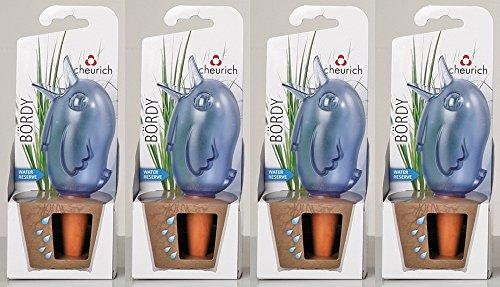 4er-Set Bewässerungskugel Wasserspender *Bördy L* in blau - H20cm/220ml