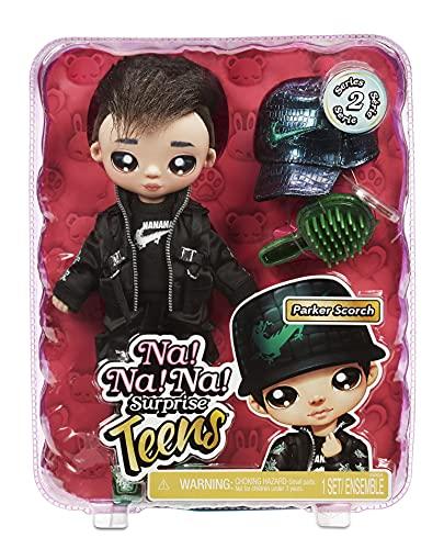 Na Na Na Surprise Teens moda para coleccionar-Muñeco de tela suave de 27,94cm inspirado en un dragón-Parker Scorch…