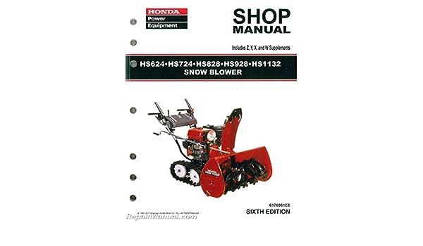 6176861e5 honda hs624 hs724 hs828 hs928 hs1132 snowblower shop rh amazon com honda snowblower hs928 repair manual Honda HS624 Belts
