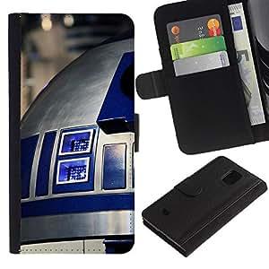 JackGot ( R2D2 ) Samsung Galaxy S5 Mini (Not S5), SM-G800 la tarjeta de Crédito Slots PU Funda de cuero Monedero caso cubierta de piel
