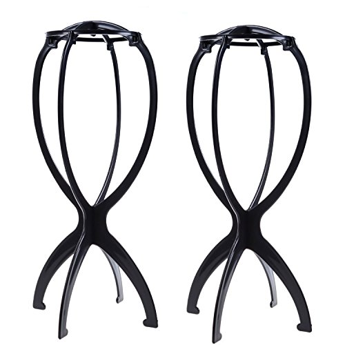 2 PCS Folding Plastic Wig Hair Hat Cap Holder Stand Display Tool Wig Dryer