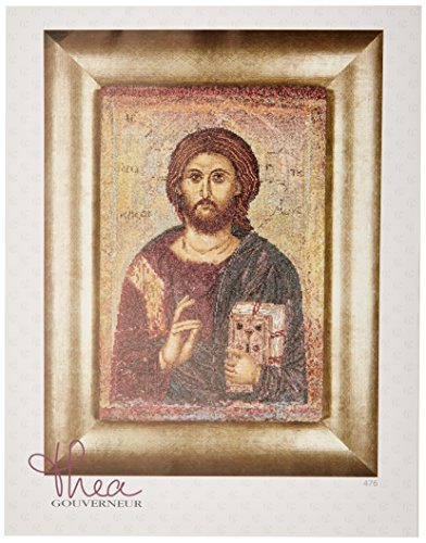 Thea Gouverneur 18 Count Counted Cross Stitch Kit, 8-3/4 by 13-1/4-Inch, Icon Christ Pantokrator on ()