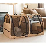 Discount Ramps Portable Dual Compartment Soft-Side Small Pet Kennel Crate