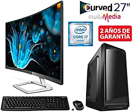 PC Ordenador SOBREMESA Gaming Intel Core I7 up to 3,8Ghz + Monitor ...